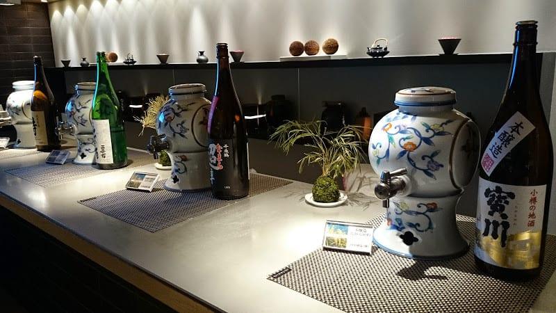 sake bar ana business class lounge