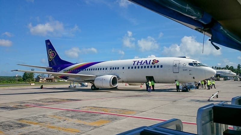 25715181576 04a865c99e c - REVIEW - Thai Airways : Economy Class - Koh Samui to Bangkok (B737)