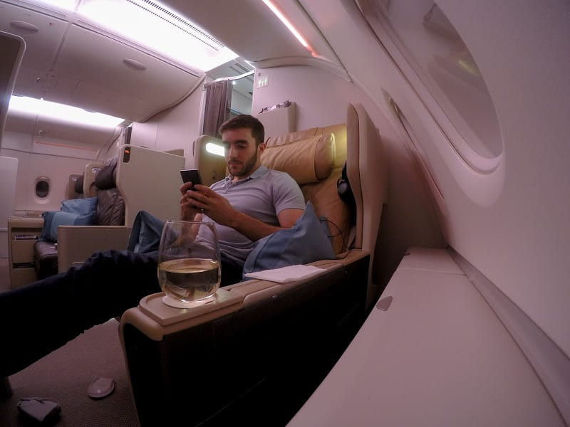 sq a380 j - REVIEW - Singapore Airlines : Business Class - Singapore to Frankfurt (A380)