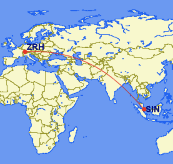 zrh sin - REVIEW - Singapore Airlines : Suites - Zurich to Singapore (A380)