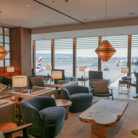 New CX Lounges T3 16 450x450 - REVIEW - Cathay Pacific : First Class Lounge, London Heathrow T3 (post-refurb)