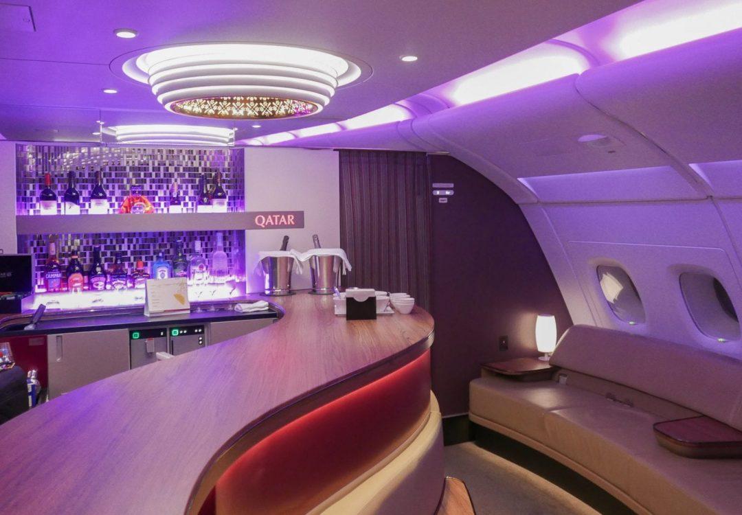 qatar bar 1 1 1080x750 - Why I love airline schedule changes...
