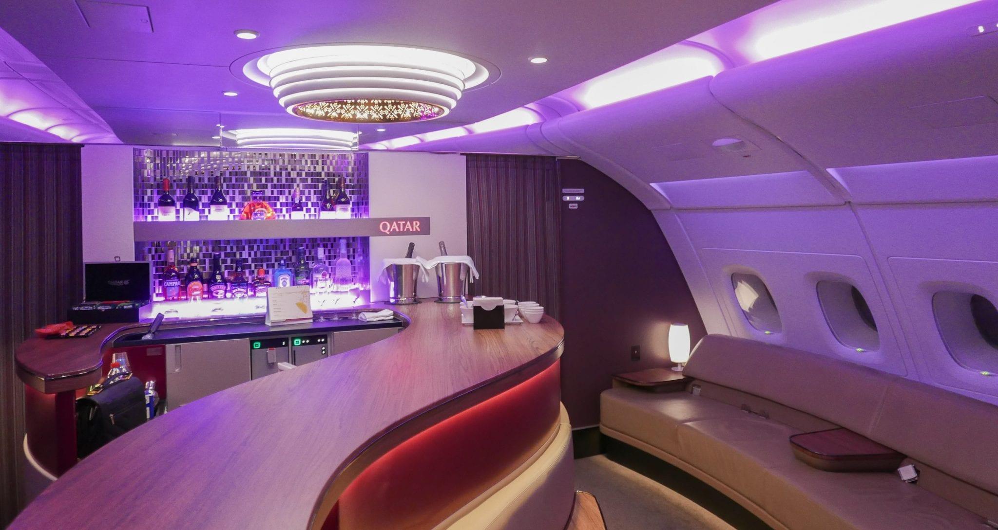 qatar bar 1 1 - Why I love airline schedule changes...