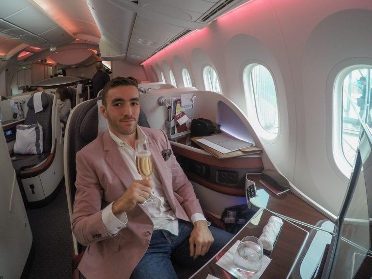 ARN DOH QR J 18 768x576 - REVIEW - Qatar Airways : Q Suites Business Class - B777 - London (LHR) to Doha (DOH)