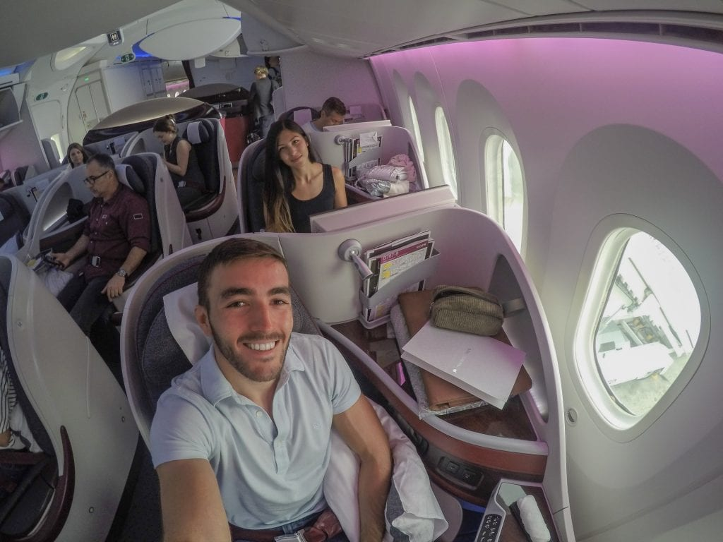 DOH ARN 6 1024x768 - REVIEW - Qatar Airways : Business Class - Doha to Stockholm (B787)