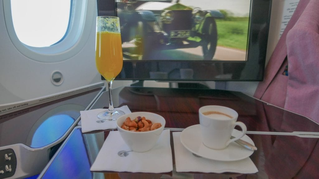 DOH ARN 7 1024x576 - REVIEW - Qatar Airways : Business Class - Doha to Stockholm (B787)