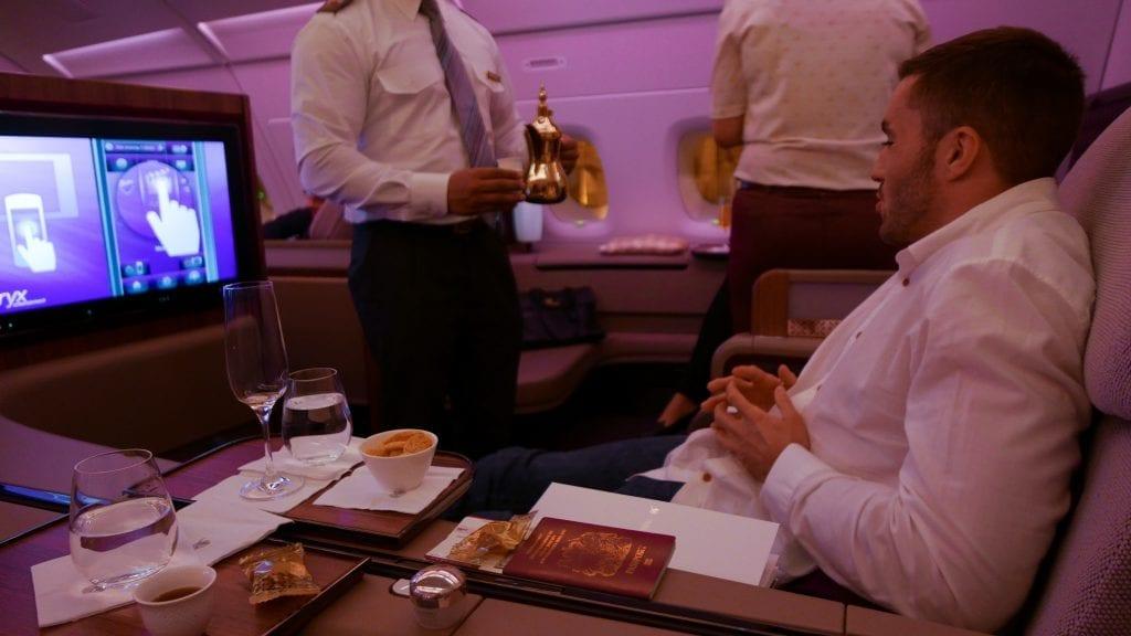 DOH BKK QR F 22 1024x576 - REVIEW - Qatar Airways : First Class - Doha to Bangkok (A380)