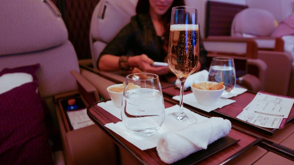 DOH BKK QR F 23 1024x576 - REVIEW - Qatar Airways : First Class - Doha to Bangkok (A380)