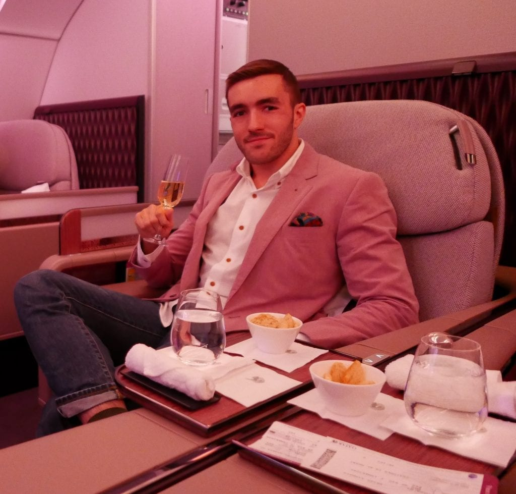 DOH BKK QR F 24 1024x979 - REVIEW - Qatar Airways : First Class - Doha to Bangkok (A380)