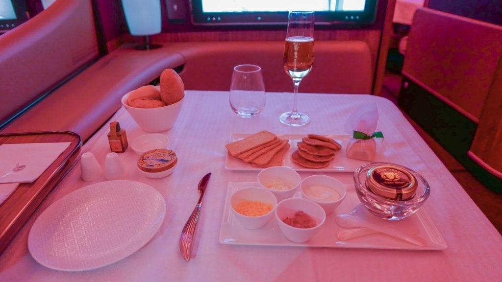 DOH BKK QR F 36 1024x576 - REVIEW - Qatar Airways : First Class - Doha to Bangkok (A380)