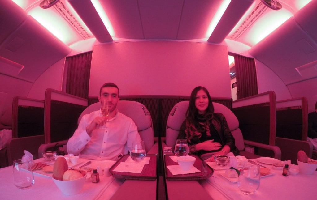 DOH BKK QR F 39 1024x647 - REVIEW - Qatar Airways : First Class - Doha to Bangkok (A380)