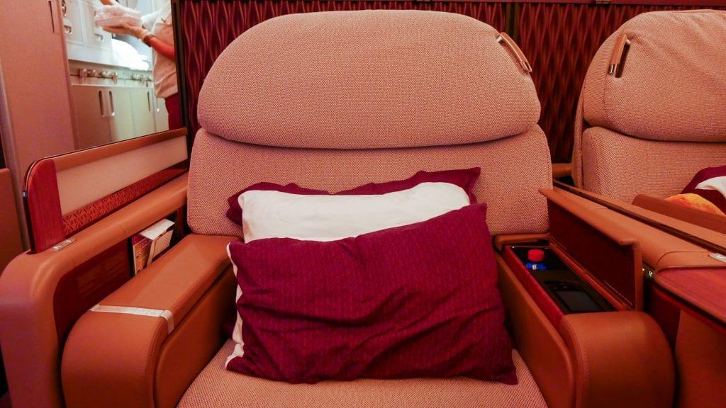 DOH BKK QR F 4 1024x576 - REVIEW - Qatar Airways : First Class - Doha to Bangkok (A380)