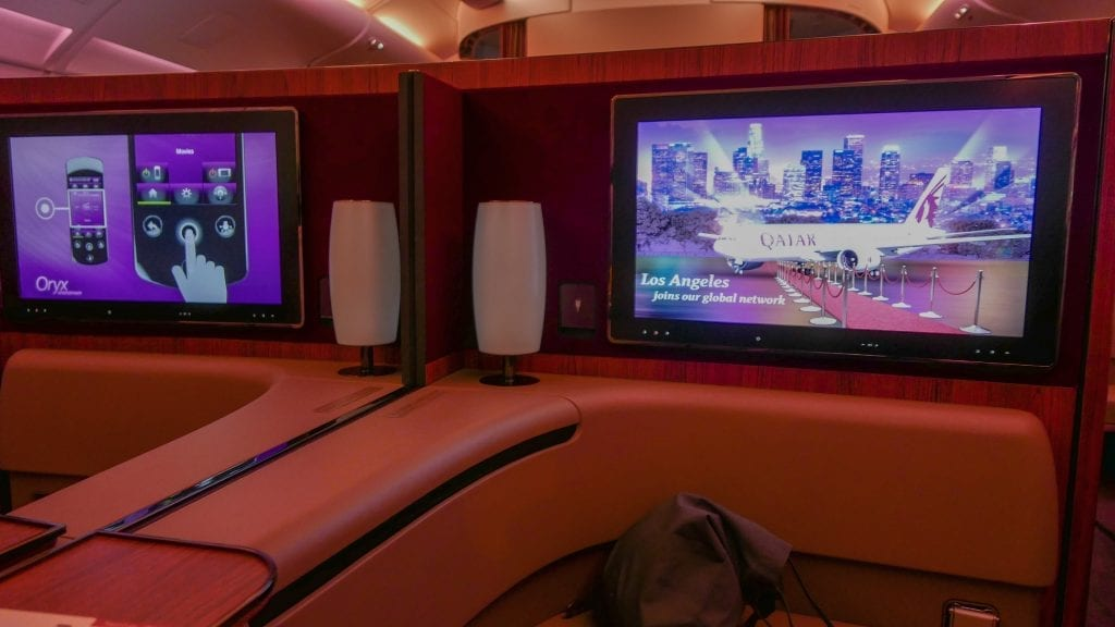 DOH BKK QR F 8 1024x576 - REVIEW - Qatar Airways : First Class - Doha to Bangkok (A380)