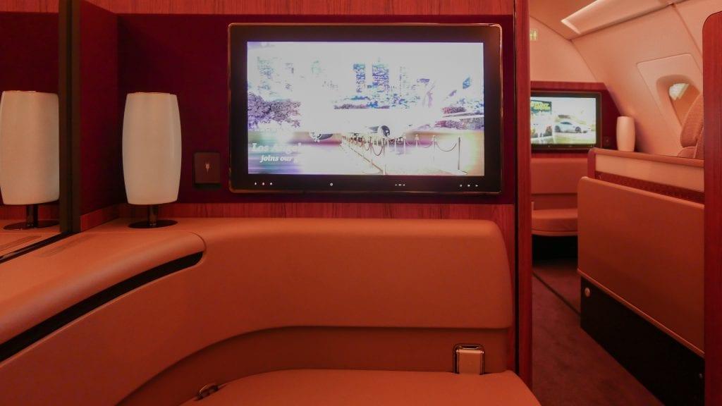 DOH BKK QR F 9 1024x576 - REVIEW - Qatar Airways : First Class - Doha to Bangkok (A380)