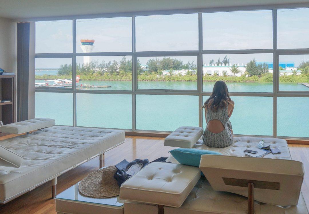 Conrad Maldives Seaplane Lounge Jarvis Marcos MLE