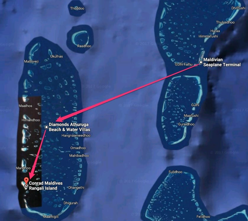 Maldivian Seaplane Terminal to Conrad Maldives Rangali Island - REVIEW - Seaplane Transfer and Arrival Experience at Conrad Maldives