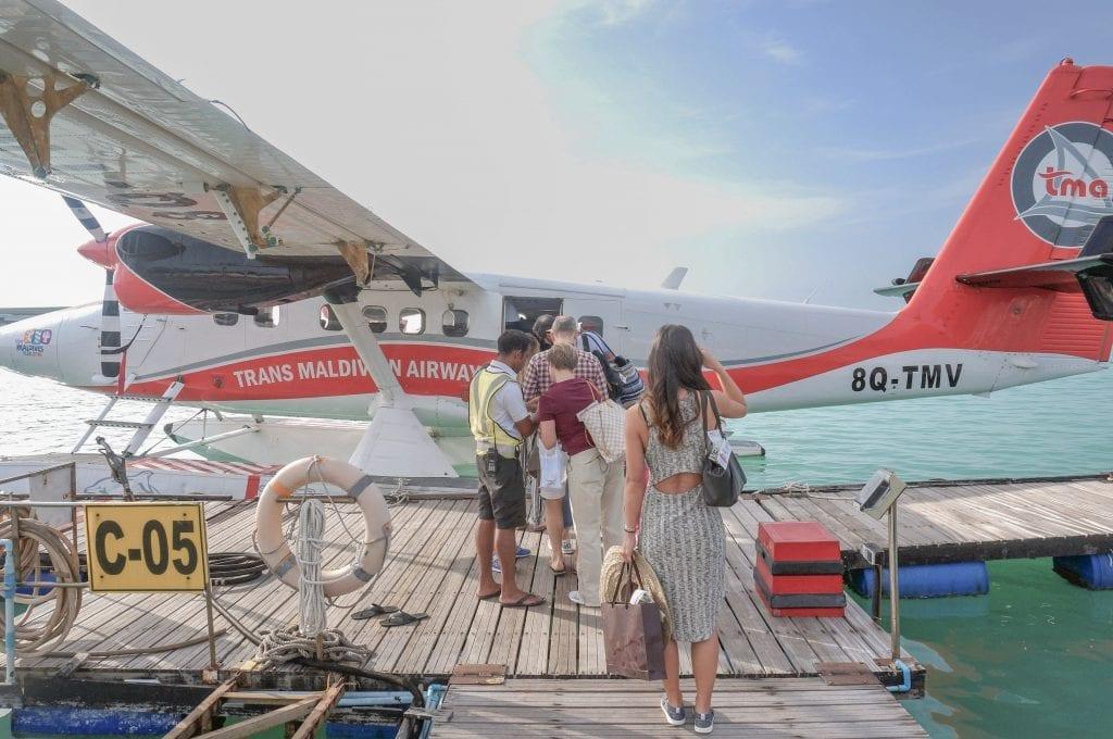 Seaplane arrival Conrad Rangali 2016 2 1024x680 - REVIEW - Seaplane Transfer and Arrival Experience at Conrad Maldives
