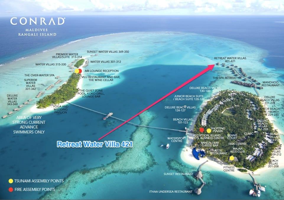RWV 421 - REVIEW - Conrad Maldives : Retreat Water Villa