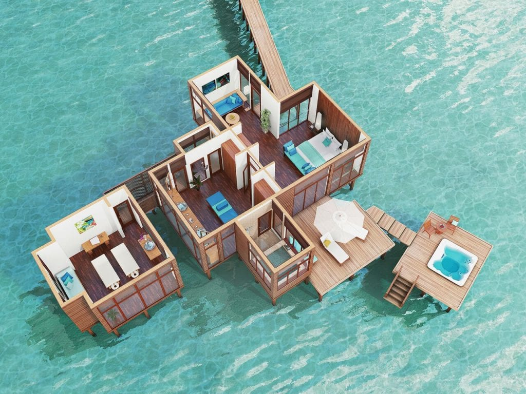 retreat water villa front 1024x768 - REVIEW - Conrad Maldives : Retreat Water Villa