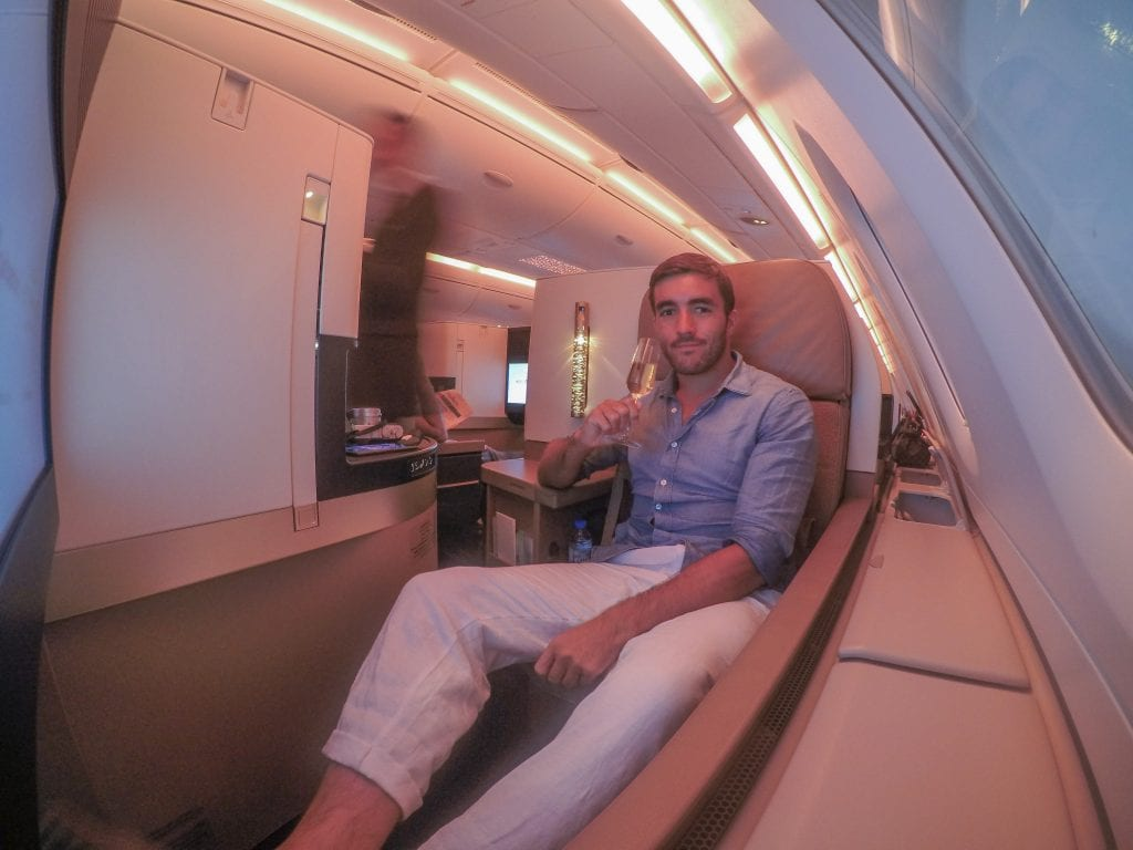 EY A380 business class 16 1024x768 - REVIEW - Etihad Airways : Business Class - Abu Dhabi to London (A380)