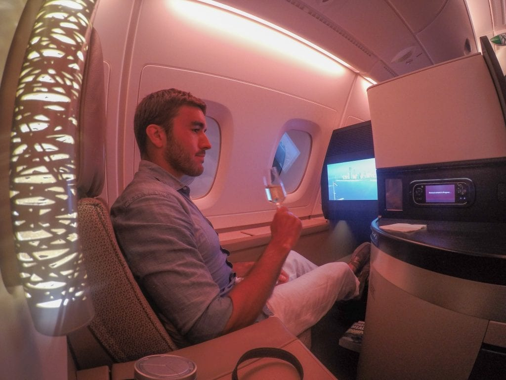 EY A380 business class 17 1024x768 - REVIEW - Etihad Airways : Business Class - Abu Dhabi to London (A380)