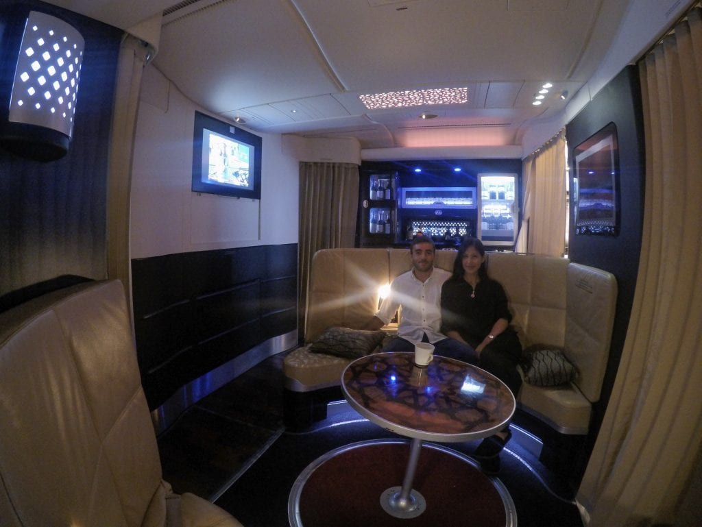 EY A380 business class 29 1024x769 - REVIEW - Etihad Airways : Business Class - Abu Dhabi to London (A380)