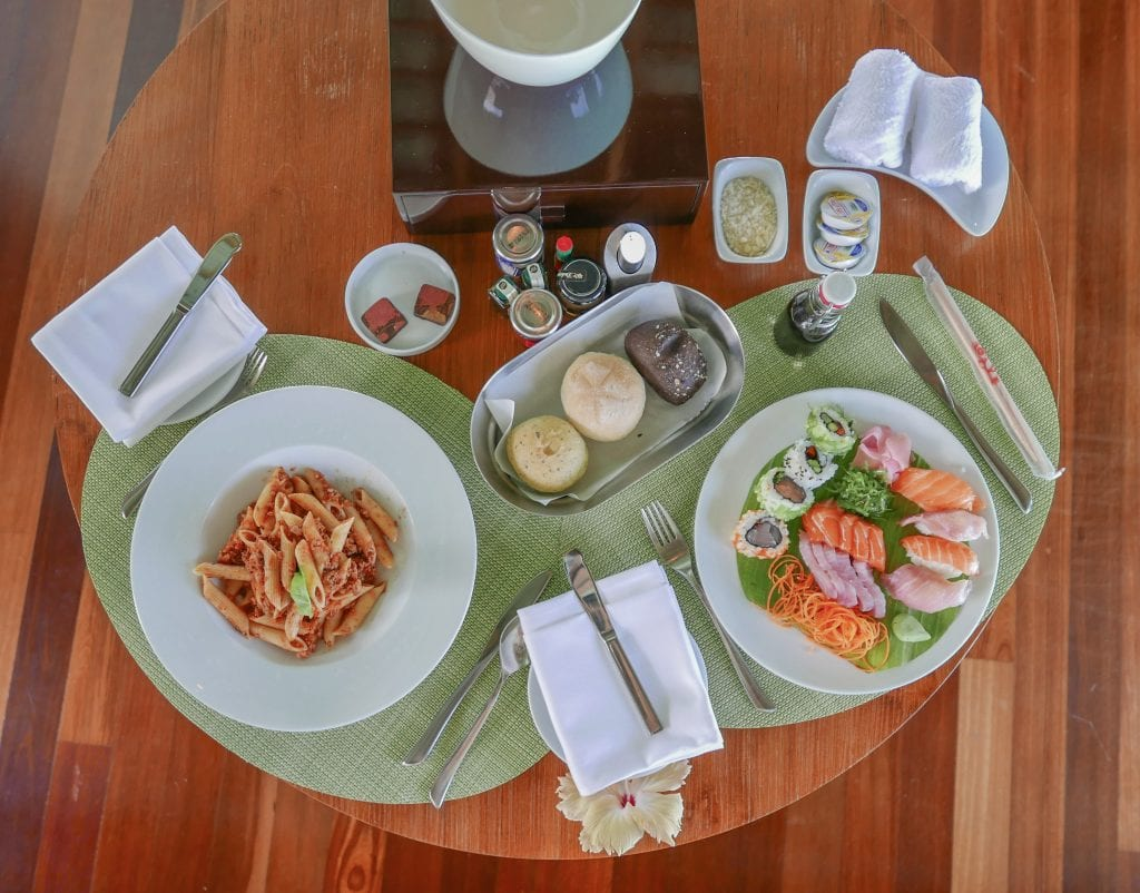 Room service 10 1024x802 - GUIDE - Eating and Drinking at the Conrad Maldives