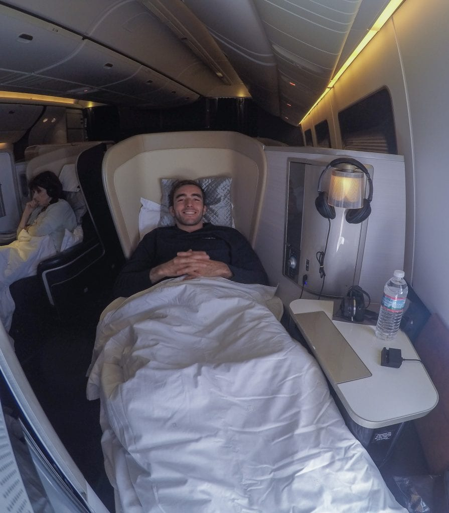 BA 777 F 1 895x1024 - REVIEW - British Airways : First Class - London to Miami (A380)
