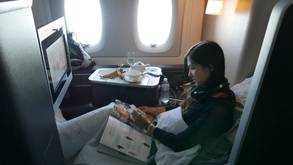 BA A380 F 35 1024x576 - REVIEW - British Airways : First Class - London to Miami (A380)