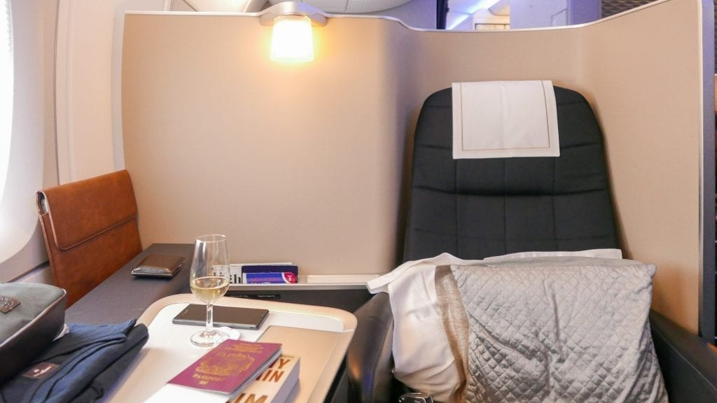 BA A380 F 9 1024x576 - REVIEW - British Airways : First Class - London to Miami (A380)