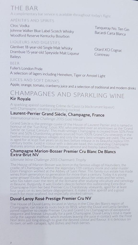 BA A380 F menu 2 576x1024 - REVIEW - British Airways : First Class - London to Miami (A380)