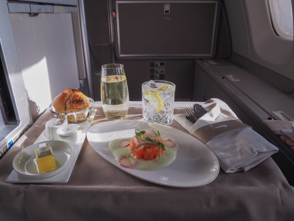 64A new catering BA 747 26 1024x768 - REVIEW - British Airways : Updated Club World Service - London to New York JFK (B747 Upper Deck)