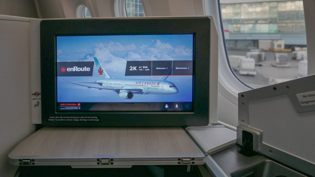 AC dreamliner 7 1024x576 - REVIEW - Air Canada : Business Class - Vancouver to London LHR (B789)