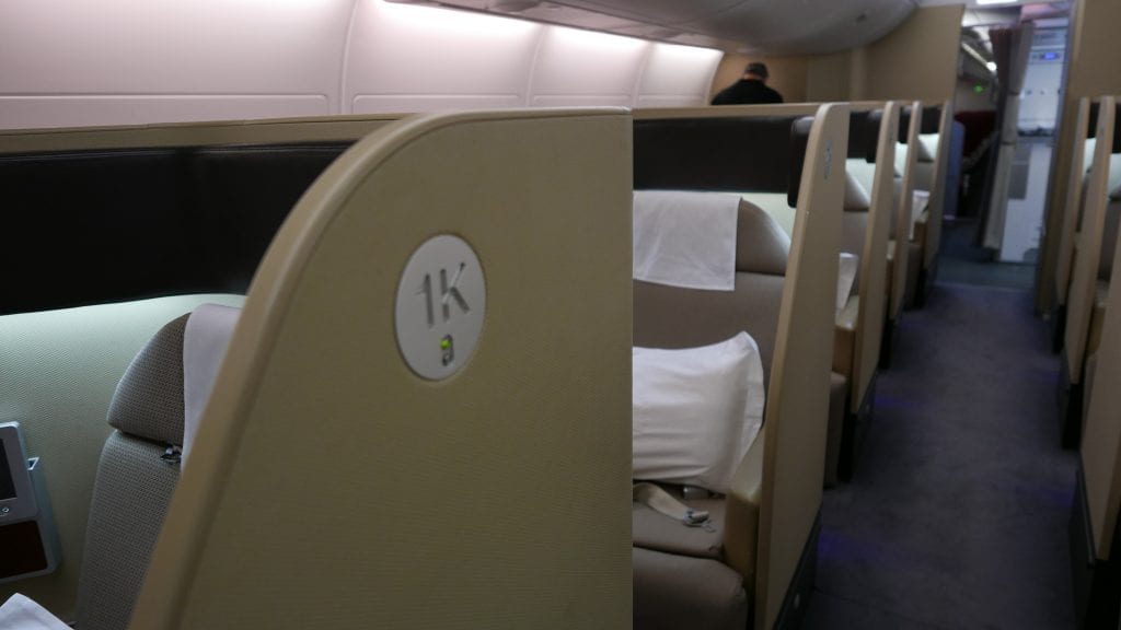 QF F LHR DXB 1 1024x576 - REVIEW - Qantas : First Class - London LHR to Dubai (A380)