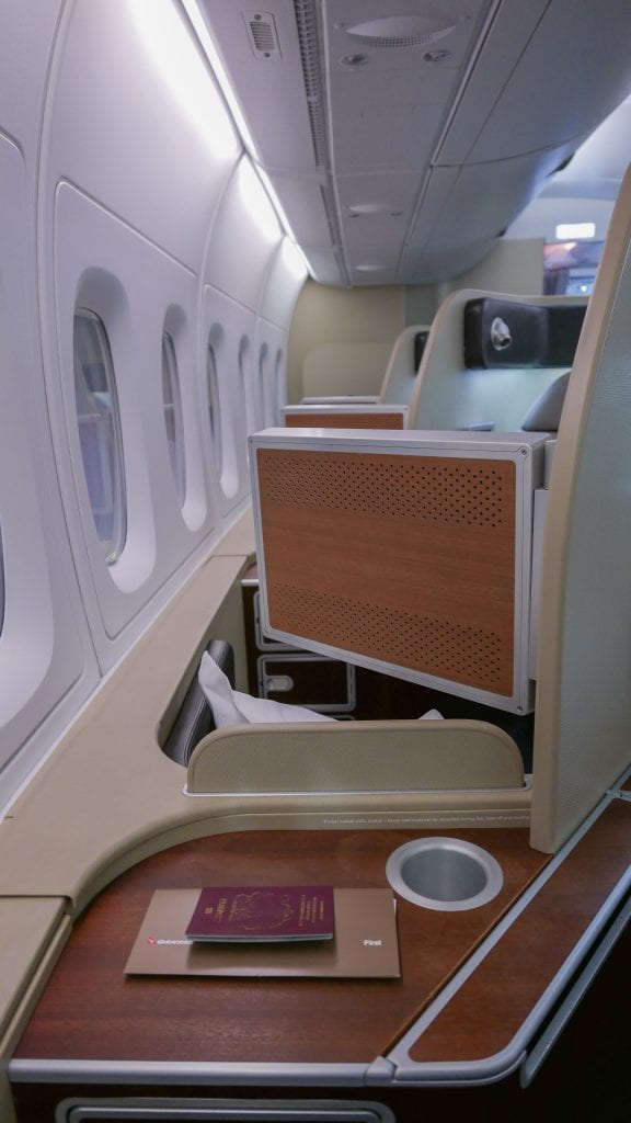 QF F LHR DXB 12 576x1024 - REVIEW - Qantas : First Class - London LHR to Dubai (A380)