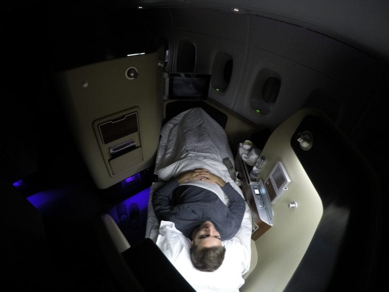QF F LHR DXB 40 768x576 - REVIEW - Qantas : First Class - London LHR to Dubai (A380)