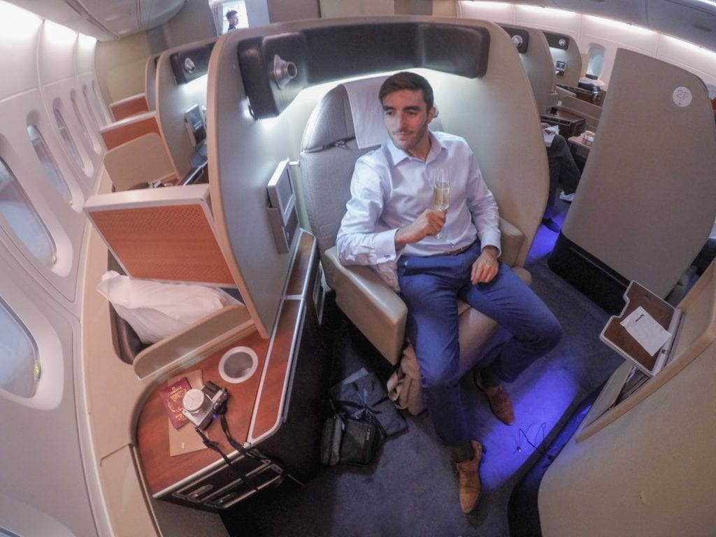 QF F LHR DXB 8 1 1024x768 - REVIEW - Qantas : First Class - London LHR to Dubai (A380)