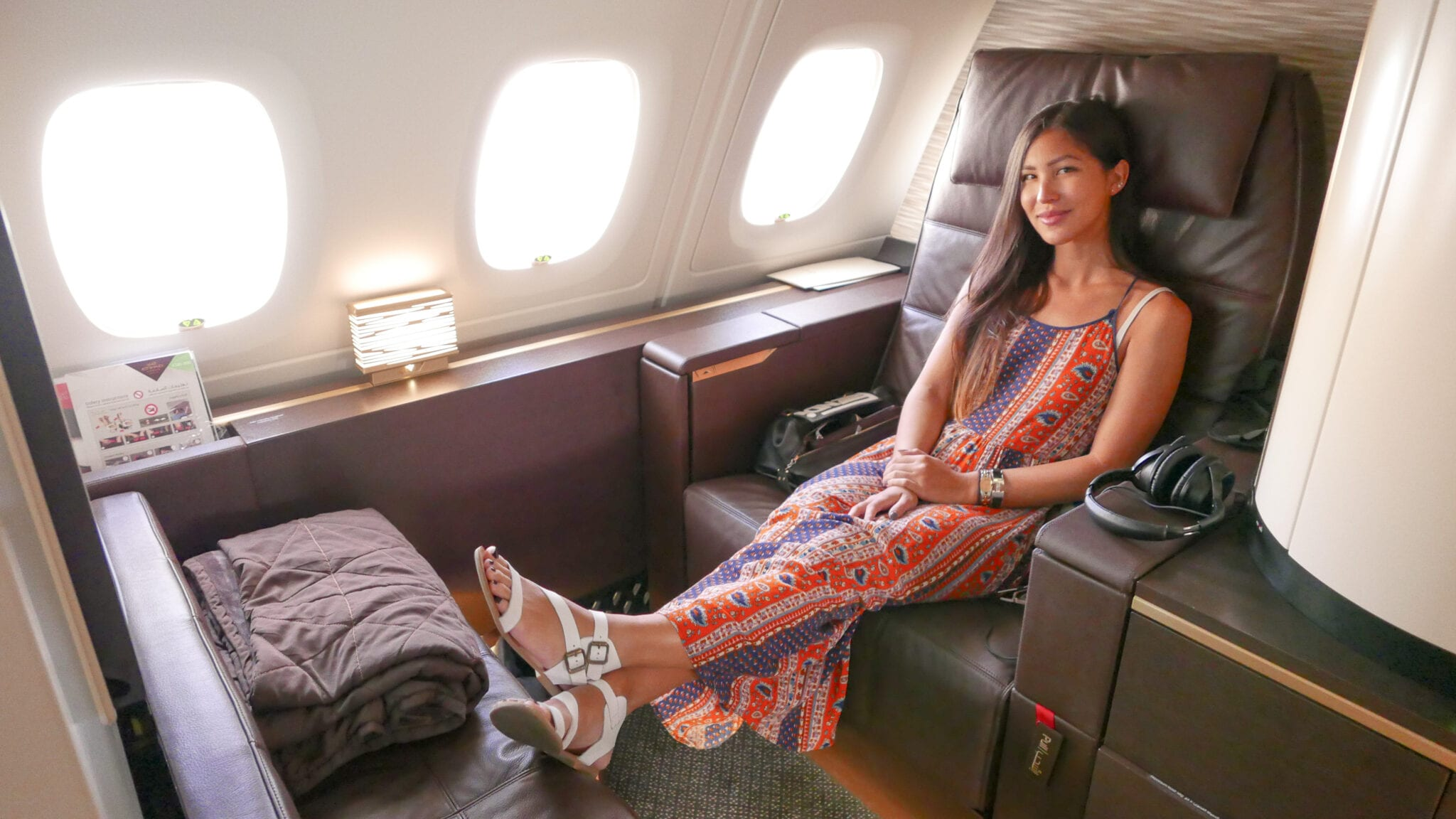 EY APTS 13 - SECOND REVIEW - Etihad : First Class Apartments - Abu Dhabi AUH to London LHR (A380)
