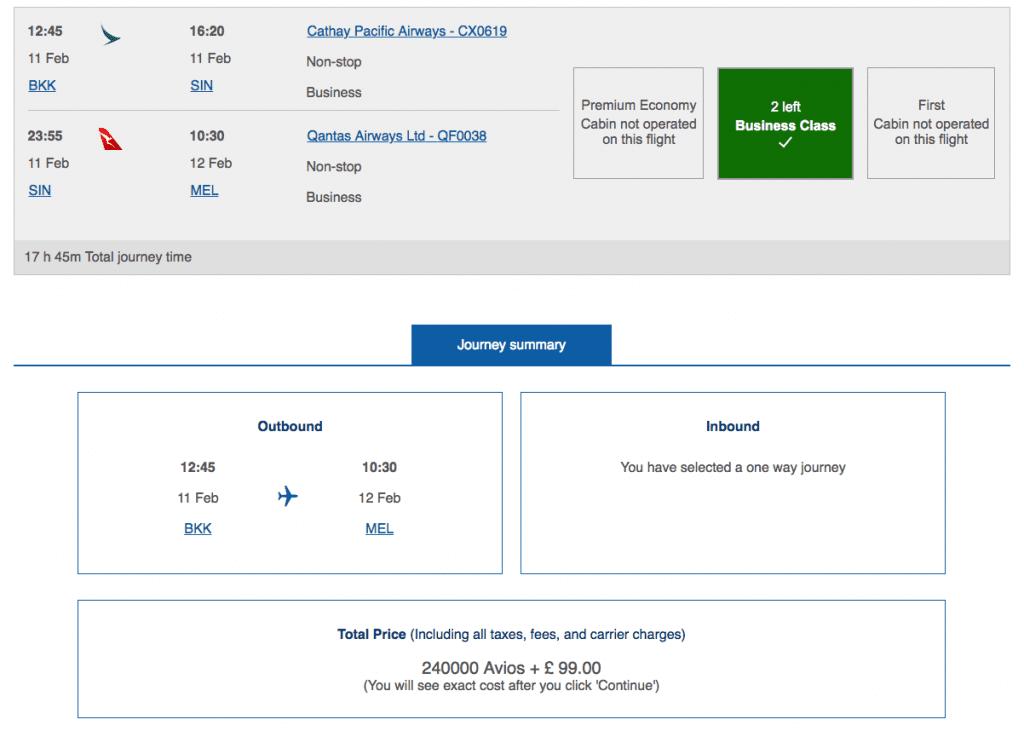 "bkk mel 1024x731 - READER MAIL : Using Miles to get to Australia a.k.a. ""Help, British Airways are sh*t!"""