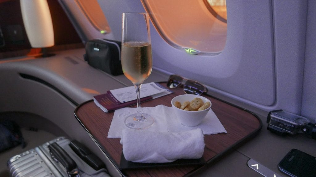 QR F SYD DOH 13 1024x576 - REVIEW - Qatar : First Class - Sydney SYD to Doha DOH (A380)