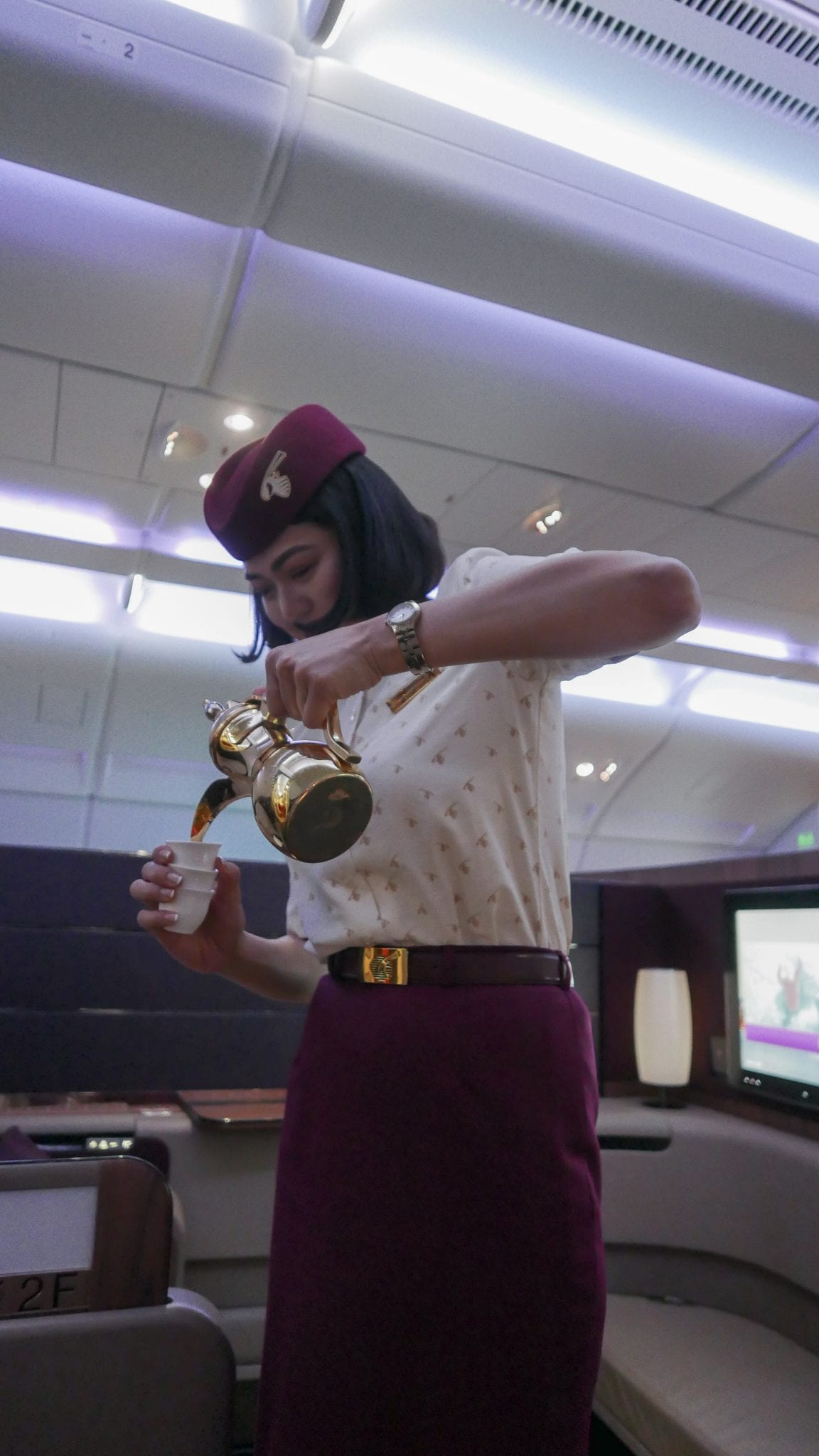 QR F SYD DOH 16 - REVIEW - Qatar : First Class - Sydney SYD to Doha DOH (A380)