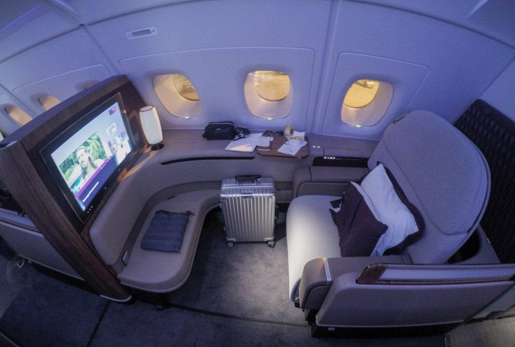 QR F SYD DOH 25 1024x690 - REVIEW - Qatar : First Class - Sydney SYD to Doha DOH (A380)