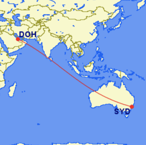doh syd - REVIEW - Qatar : First Class - Sydney SYD to Doha DOH (A380)