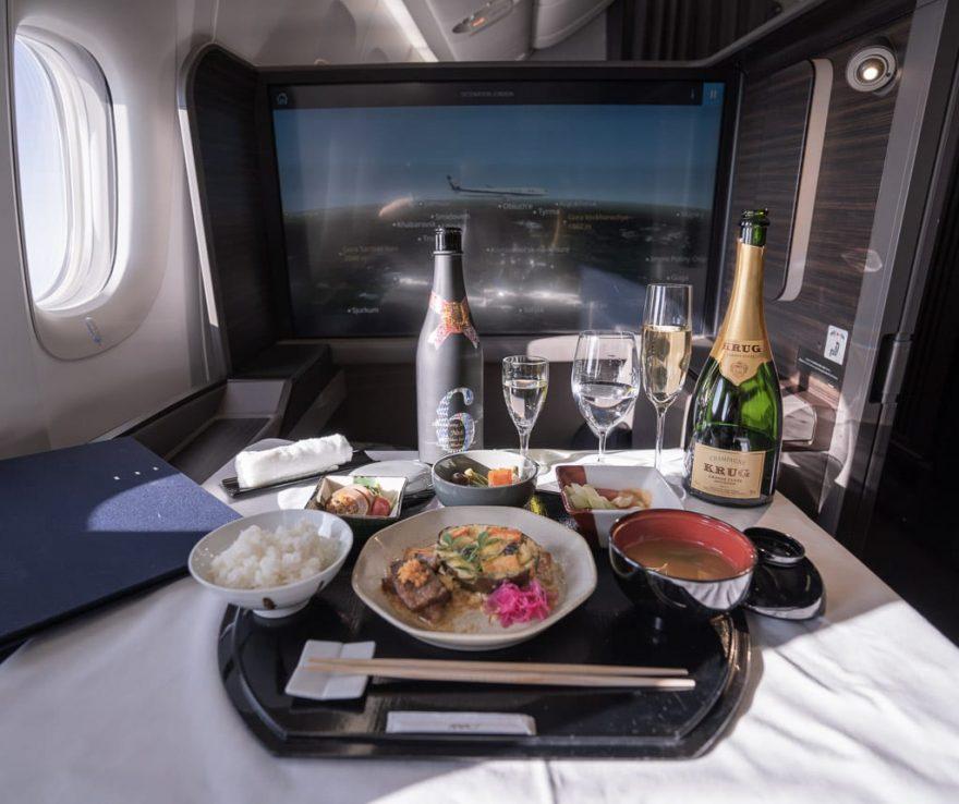 ANA New F 58 880x738 - First Class & Business Class flight reviews
