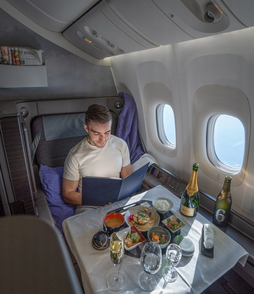 ANA New F 59 885x1024 - WORLD EXCLUSIVE REVIEW - ANA : New First Class Suite - Tokyo HND to London LHR (B777)