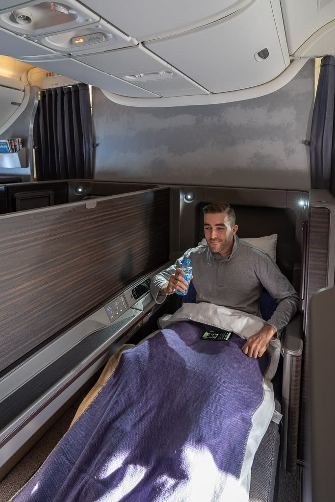 ANA New F 71 - WORLD EXCLUSIVE REVIEW - ANA : New First Class Suite - Tokyo HND to London LHR (B777)