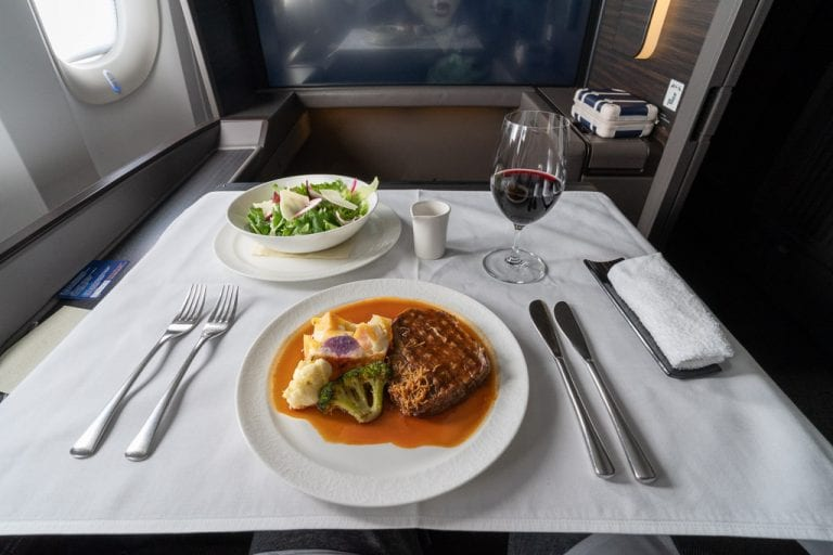 ANA New F 87 768x512 - WORLD EXCLUSIVE REVIEW - ANA : New First Class Suite - Tokyo HND to London LHR (B777)