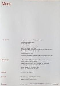 lx f menu yul zrh 2 209x300 - REVIEW - SWISS : First Class - Montreal YUL to Zurich ZRH (B777)