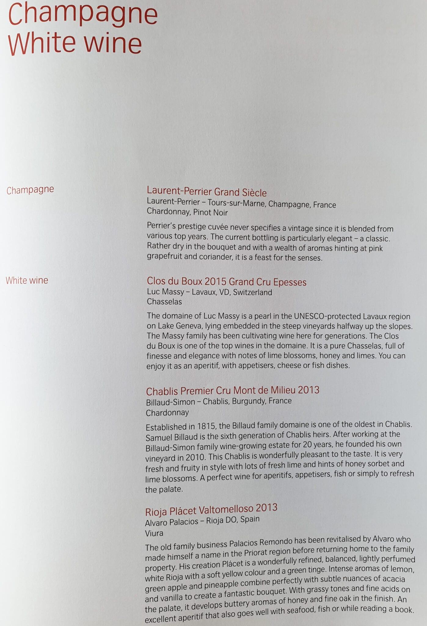 lx f menu yul zrh 4 - REVIEW - SWISS : First Class - Montreal YUL to Zurich ZRH (B777)