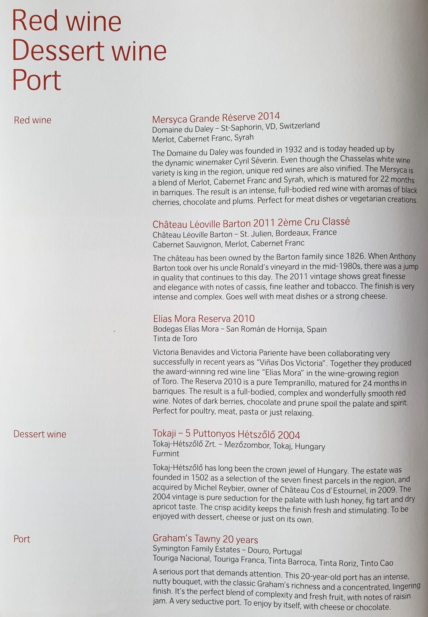 lx f menu yul zrh 5 - REVIEW - SWISS : First Class - Montreal YUL to Zurich ZRH (B777)
